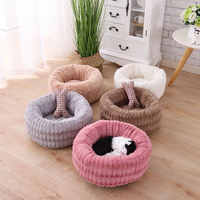 Fluffy Plush Pet Cat Bed Cot Dog Deep Sleeping Washable Cat House Lounger Sofa for Small Cats Breathable Kitten Mat Cushions