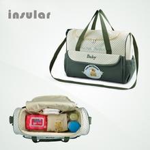 Maternity bag multifunctional band cartoon bear bag large capacity