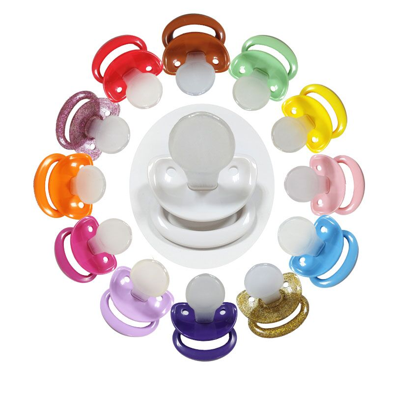24 Color Ddlg Baby Girl Abdl Classic Custom Plus Size Silicone Adult Pacifier Little Space Daddys Girl Adult Baby Boy Pacifier