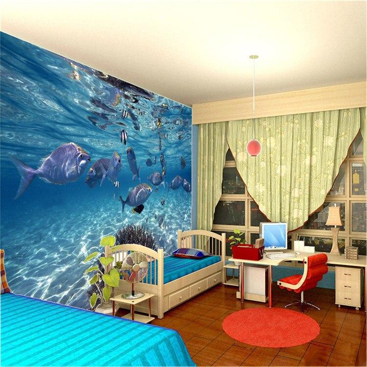 Underwater wallpaper for bedroom for Dragon bedroom ideas