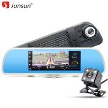 Junsun 7 «автомобильный ВИДЕОРЕГИСТРАТОР Зеркало Заднего Вида Камера GPS Android Видеорегистратор FHD 1080 P ROM 16 ГБ Регистратор Даш Автомобильный ВИДЕОРЕГИСТРАТОР Зеркало cam