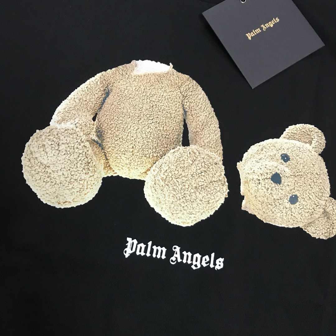 2019ss Palm Malaikat Broken Head Bear Dicetak Unisex Pria Wanita T Shirt Tees Hip Hop Streetwear Pria Katun T Shirt Pa gaya Musim Panas