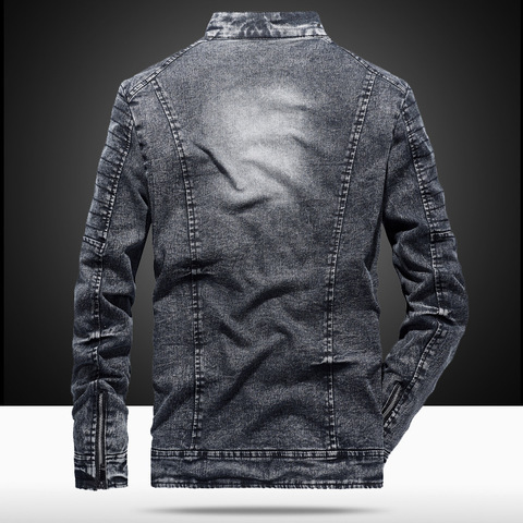 2019 New Vintage Denim Jacket Men Fashion Slim Fit Mens Jeans Coats Streetwear Motorcycle jacket jaqueta masculina Size M-3XL Islamabad