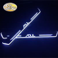 SNCN 4PCS Acrylic Moving LED Welcome Pedal Car Scuff Plate Pedal Door Sill Pathway Light For Kia Soul 2015 2016 2017 2018