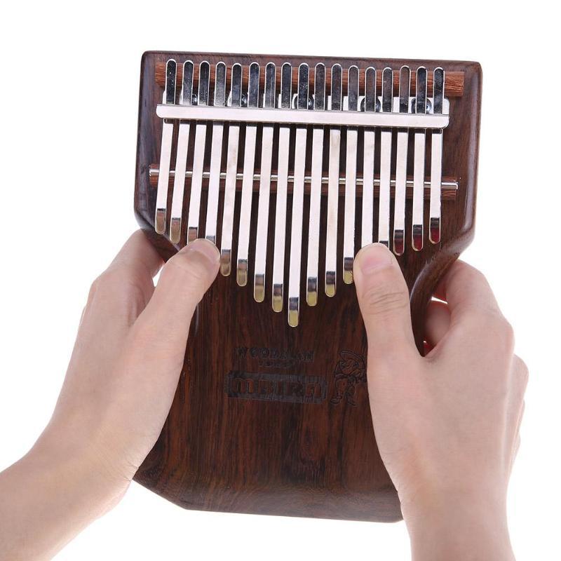 17 Keys Ebony Kalimba Thumb Piano Finger Percussion Keyboard Musical Tool for Adult Kids High Quanlity Musical Instruments zebra musical instruments keyboard instruments piano sw 37k 37 keys melodica mouth organ with handbag