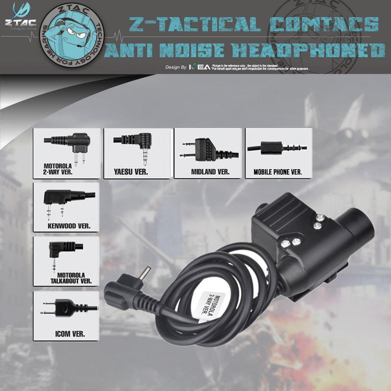 Element Tactical Z113 Headset PTT Walkie-talkie Accessories U94 Military Regulations J Standard Walkie-talkie Headset Launch