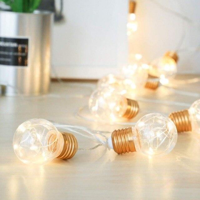 lukloy indoor bedroom bedside string light bulb shape ins