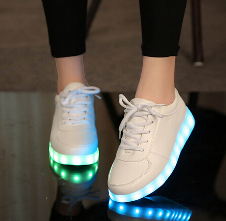 Light children LED colorful shining chaussure enfant USB charging boys girls sneakers kids Fashion basket Led shoes children luminous sneakers shoes with backlight pu leather led charging fashion sneakers children shoes chaussure led enfant