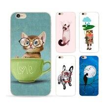 Голубая луна картина для Apple , Iphone 6 чехол 6 s милые котята тпу чехол полный хемминг эффект масляной живописи телефон чехол