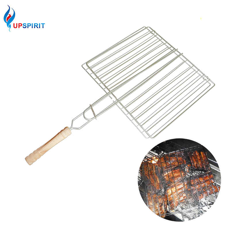 Upspirit BBQ Tools BBQ Mesh Outdoor Camping BBQ Grill Mesh Barbecue Net Tongs Clip Barbeque Meshes BBQ Accessories Cooking Tools