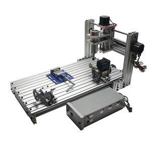 Image 3 - Diy mini stół cnc 4 osi 3060 pcb drewna metalu frezarka z szczęki imadła zaciski i frezy maszyny