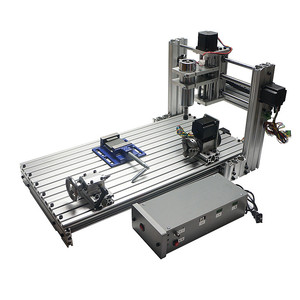 Image 3 - Diy mini table cnc 4 axis 3060 pcb wood metal milling cutter machine with jaw vice clamps and milling bits machinery