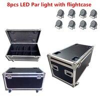 8x24x18 w led par luz com caso do vôo rgbwa uv 6in1 dj luz estágio profissão iluminação de palco dj luz de lavagem|Efeito de Iluminação de palco| |  -