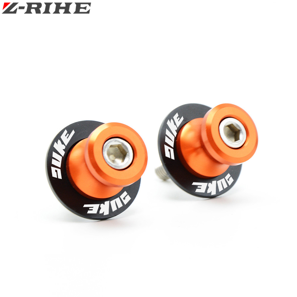 For KTM Motorcycle CNC Swingarm Slider Spools stand screws For KTM DUKE 125 200 390 DUKE DUKE/R ENDURO/SMC/SM With LOGO for ktm logo 125 200 390 690 duke rc 200 390 motorcycle accessories cnc engine oil filter cover cap