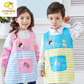 0-9 Years Kids Children Waterproof painted outerwear Cartoon Cooking Apron Long Sleeve Drawing Painting Apron for kindergarten