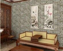 купить beibehang wall paper Fashion aesthetic pvc retro brick wall barber shop restaurant restaurant papel de pared 3d wallpaper tapety дешево