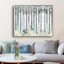 Laeacco Abstract Forest Canvas Painting Wall Art Nordic Posters And Prints Living Room Decoration Picture Modern Home Decor modern abstract landscape picture home decor nordic canvas painting wall art mountain sunrise prints and posters for living room