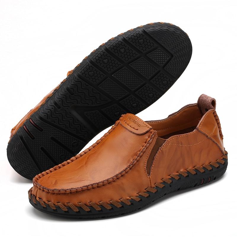 Casual Mens pantofi loafers pantofi autentic de vacă din piele - Pantofi bărbați - Fotografie 2