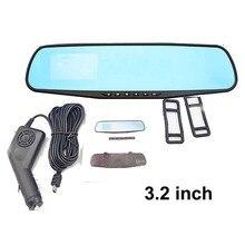 3.2″ Blue Glass Car Digital Video Recorder Single Lens Rearview Mirror Reversing Camera Car DVR Car Camera Recorder Free Ship