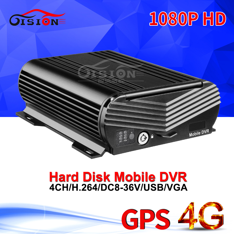 4G Hard Disk Mobile Dvr With GPS Real Time Surveillance Cyclic Recording Alarm I/O Playback 4CH HDD Video Recorder AHD Mdvr
