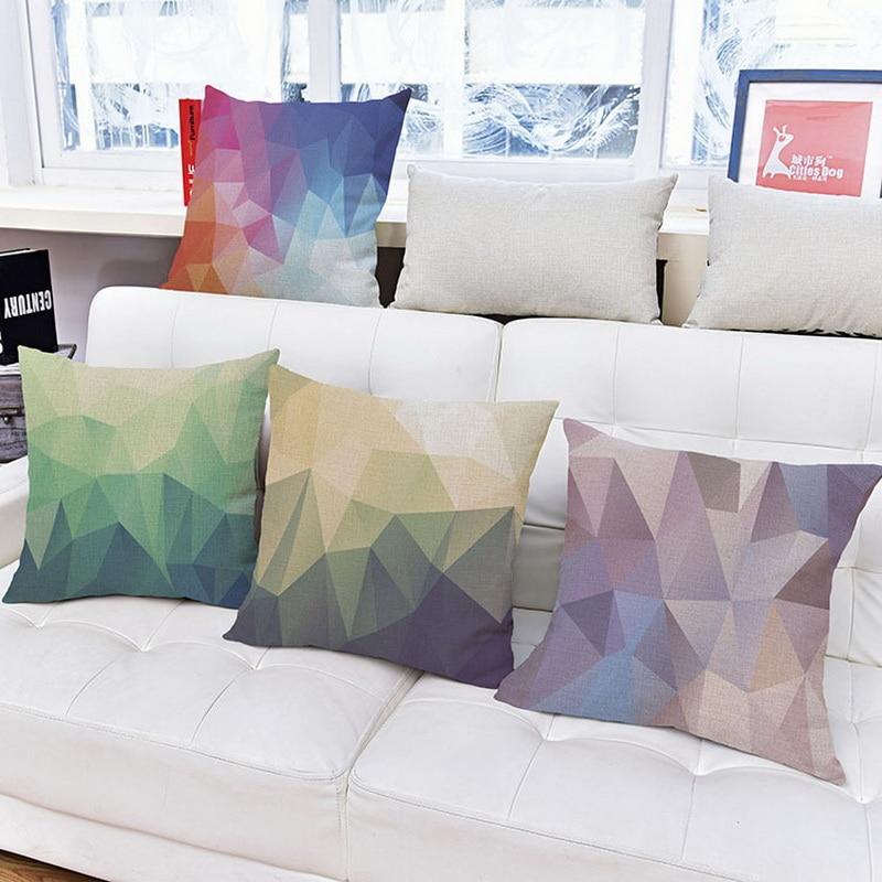 Nový styl Skandinávské geometrické vzory Dekorativní polštář Povlečení Plátěný polštářový obal na pilířové pouzdra 18 '' Doprava zdarma
