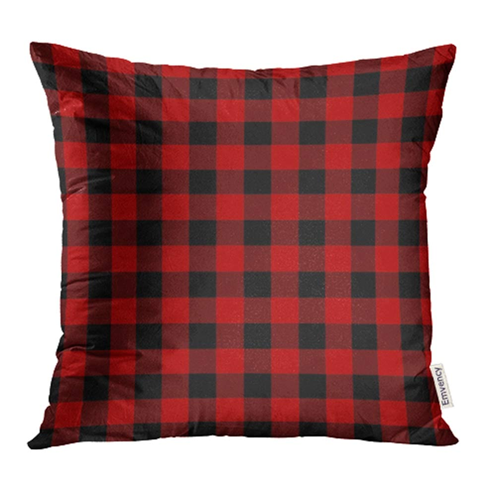 Imparato Nero Red Scottish Tartan Plaid A Scacchi Britannico Clan Cultura Fab Heritage Gonnellino Custodie Cuscino Quadrato Custodie Coperture Due Lati Di Stampa