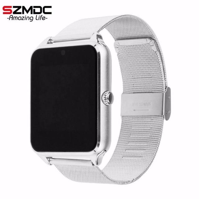 d27588a1e4a Homens Mulheres De Pulso do Bluetooth Smartwatch Relógio Inteligente GT08  Z60 SZMDC Apoio SIM TF