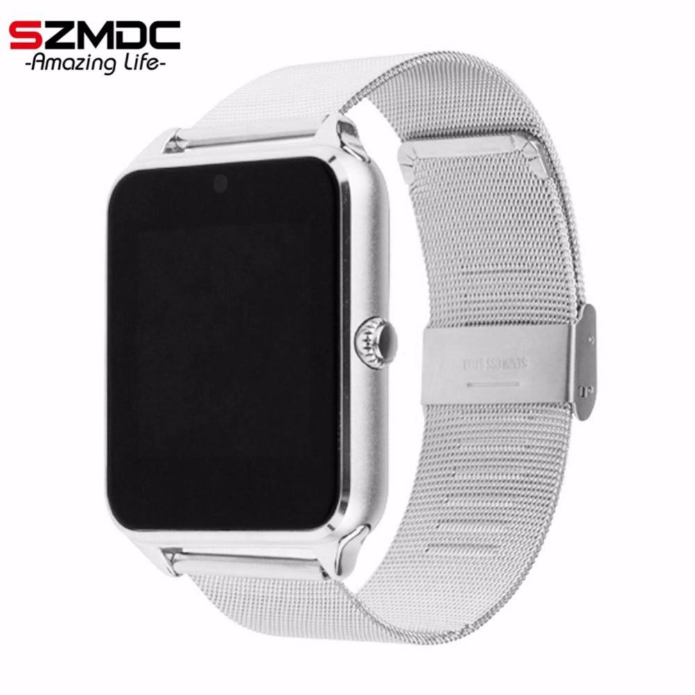 SZMDC reloj inteligente GT08 Z60 hombres mujeres Bluetooth de muñeca, reloj soporte SIM/TF Tarjeta de reloj para Apple teléfono Android PK DZ09