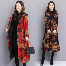 and Winter 2019 New Retro Ethnic Women's Wear with Furry and