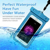 BASEUS Brand Flourescent Clear Screen Waterproof Phone Bag Case For IPhone Samsung Universal Under 5 5