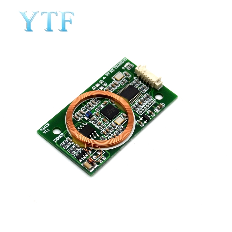 US $11 52  7941W dual frequency read write card reader ICID card Mifare  Wiegand WG2634 serial port T5577 reader-in Demo Board Accessories from