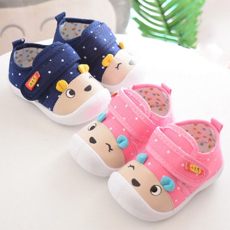 Cartoon Baby Shoes Newborn Autumn Polka Dot Cartoon Cute Baby Boy Girl Shoes First Walkers Sounds Princess Shoes