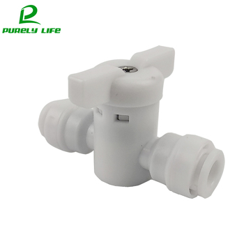 цена на No buckle 1/4switch fast joint Water purifier 1/4fast joint on-off 1/4 inch direct connection pipe fitting RO Plastic joints