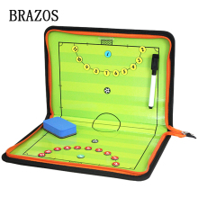 Zipper Futsal Magnetic Tactic Board Football Tactical Soccer Ball Game Portable Coach Voetbal Training
