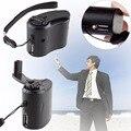 Portátil Manivela Wind Up Dynamo Manivela Celular USB Phone Carregador De Emergência USB Carregador Para Camping Caminhadas Esportes Ao Ar Livre