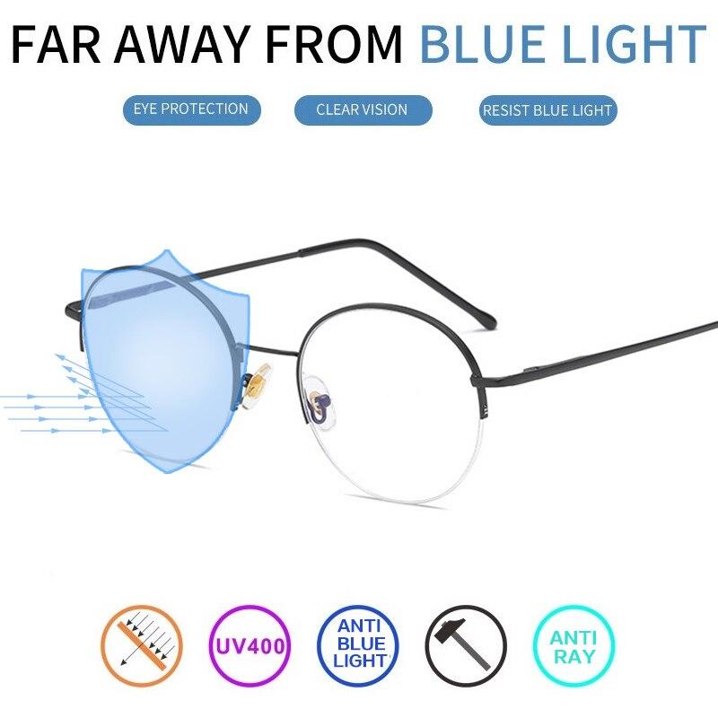 vazrobe round computer glasses men women anti blue light radiation spectacles eye protect work. Black Bedroom Furniture Sets. Home Design Ideas