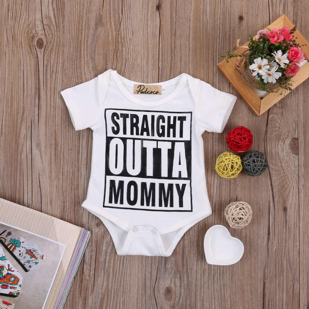 Hot sale White Newborn Baby Girl Boy Clothes Bodysuit Romper Jumpsuit Outfits One-pieces 0-18M