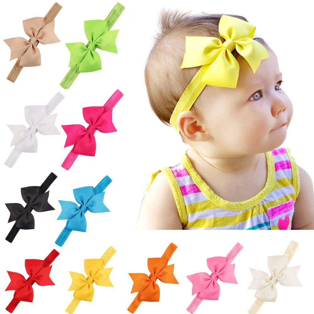 ✅Babys Band Bogen Elastische Stirnbänder Baby Bogen Stirnband ...