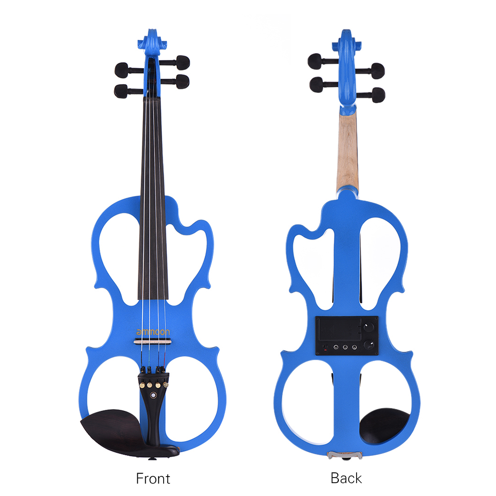 Hot sale ammoon VE 201 Full Size 4 4 Solid Wood Silent Electric Violin Fiddle Maple