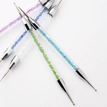NOQ 5 шт Профессиональный гвоздь для точечного декора ручка хрустальные бусины ручка горный хрусталь шпильки Пикер восковой карандаш маникюр Дизайн ногтей