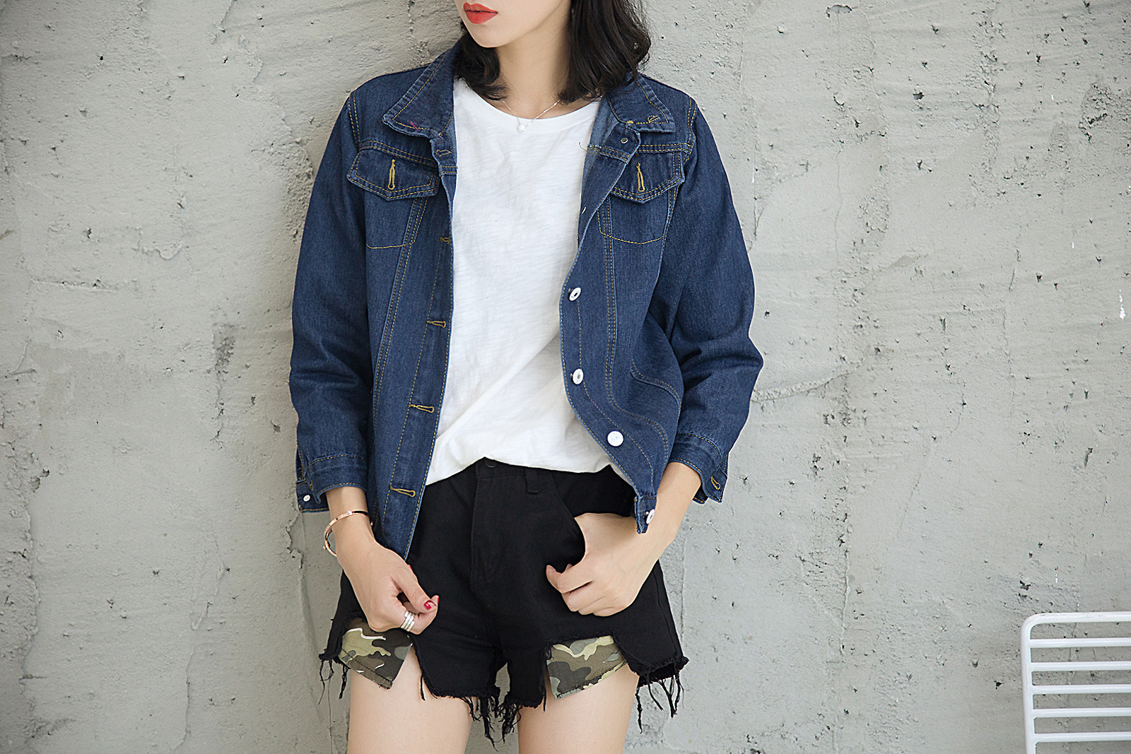 bedccb97d8c 2018 Spring Autumn Female Jean Jackets Korean Loose Long Sleeve ...
