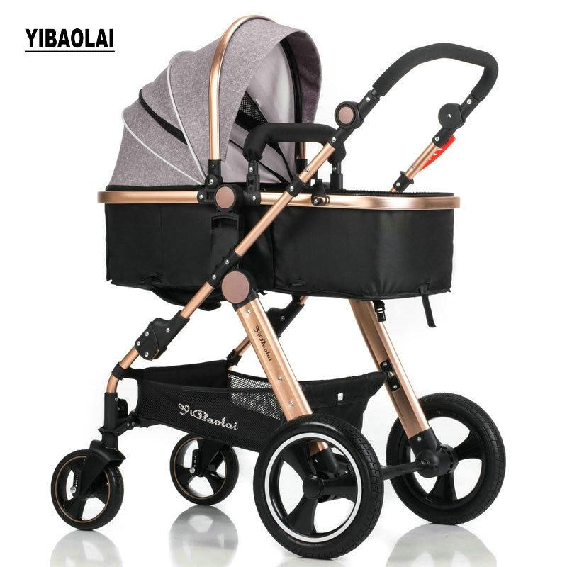 Детская коляска Высокая Пейзаж можно сидеть можно сложить складные зимние и летние детские легкие коляски Детские коляски