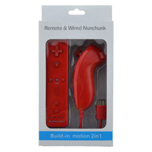 10PCS a lot 7 Colors Built-in motion 2in1 for Nintendo Wii remote & nunchunck  Gamepad/jostick/controller with Motion Plus цены онлайн