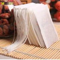 Venta caliente 3 tamaños 100 unids/lote Teabags vacías bolsas de té perfumadas con cuerda de papel de filtro de sellado para hierba suelta té Bolsas de te