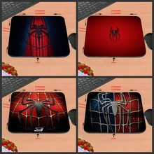 Spiderman Logo Best Black Rubber Print Mouse Mat Laptop Computer Gaming Mice Pads For Optical Laster Mats 18*22/25*20/29*25*2cm