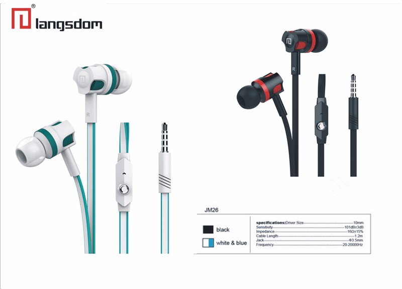 HTB1YvI KFXXXXbPXpXXq6xXFXXXC - Original Brand Earbuds JM26 Headphone Noise Isolating in ear Earphone Headset with Mic for Mobile phone Universal
