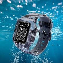 방수 충격 방지 애플 시계 시리즈 2 3 4 5 소프트 실리콘 iWatch 밴드 44mm 42mm 스트랩 커버 액세서리