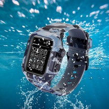 Waterproof Shock Proof Case For Apple Watch Series 2 3 4 5 Soft Silicone Band For iWatch Band 44mm 42mm Strap Cover Accessories