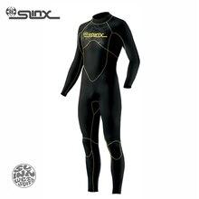 Odkryj slinx 1106 5mm neoprenu mężczyźni nurkowanie garnitur fleece lining ciepłe snorkeling wetsuit kitesurfing łowiectwa podwodnego stroje kąpielowe