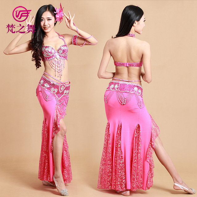 0ef496de9 Professional 3pcs belly dance costume tribal dance clothes Egyptian style  dance skirt egyptian belly dance clothing GT-1039#